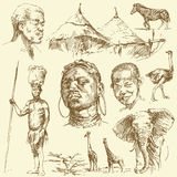 Conjunto de África Imágenes de archivo libres de regalías