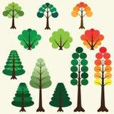Conjunto de árboles Foto de archivo libre de regalías