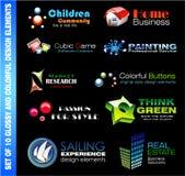 Conjunto de 10 elementos del diseño ilustración del vector