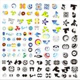 Conjunto de 110 más insignias Imagen de archivo