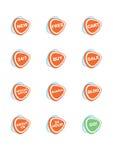 Conjunto de 12 iconos en línea de las compras del vector Imágenes de archivo libres de regalías