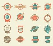 Conjunto de 16 divisas de la vendimia Imagenes de archivo