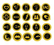 Conjunto de 20 iconos útiles de la tecnología Imágenes de archivo libres de regalías