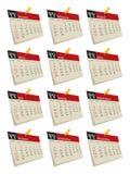 conjunto de 2011 calendarios Fotos de archivo libres de regalías