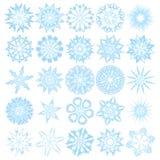 Conjunto de 25 copos de nieve libre illustration