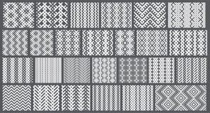 Conjunto de 26 modelos inconsútiles elegantes monocromáticos Imagen de archivo libre de regalías