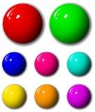 conjunto de 3 dimensiones de la esfera de la alta calidad Fotos de archivo