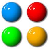 conjunto de 3 dimensiones de la esfera de la alta calidad Imagenes de archivo