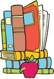 Conjunto de 3 libros a mano stock de ilustración