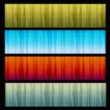 Conjunto de 4 banderas de la textura Imagen de archivo