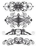 Conjunto de 4 cabeceras decorativas de la vendimia Foto de archivo libre de regalías