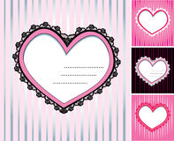 Conjunto de 4 corazones Fotos de archivo libres de regalías