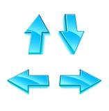 Conjunto de 4 flechas del hielo del vector libre illustration