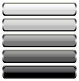 Conjunto de 5 botones del metal Foto de archivo