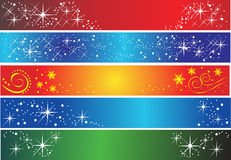 Conjunto de 5 diversas banderas del día de fiesta Fotografía de archivo