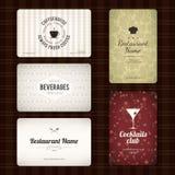 Conjunto de 5 tarjetas de visita detalladas Fotos de archivo libres de regalías