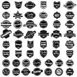 Conjunto de 50 escrituras de la etiqueta superiores de la calidad de la vendimia Imagen de archivo