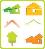 Conjunto de 6 iconos de las propiedades inmobiliarias y ele constructivos del diseño ilustración del vector