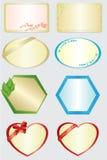 Conjunto de 8 tarjetas del color Fotos de archivo libres de regalías