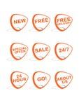 Conjunto de 9 iconos en línea de las compras del vector Fotos de archivo