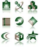 Conjunto de 9 insignias Foto de archivo