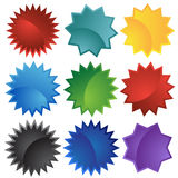 Conjunto de 9 sellos Imagen de archivo libre de regalías