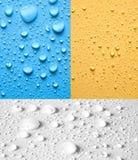Conjunto de agua de las gotas Imagen de archivo