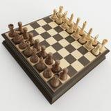Conjunto de ajedrez Foto de archivo libre de regalías