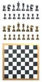 Conjunto de ajedrez Fotos de archivo libres de regalías