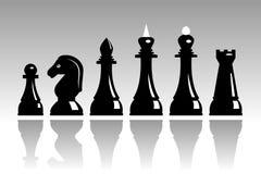 Conjunto de ajedrez Fotografía de archivo libre de regalías