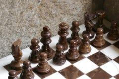 Conjunto de ajedrez de mármol Foto de archivo