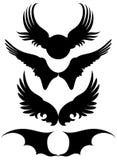Conjunto de alas Imagen de archivo libre de regalías
