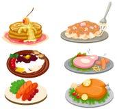 Conjunto de alimento Imagenes de archivo