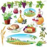 Conjunto de alimento Imagen de archivo libre de regalías