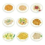 Conjunto de alimento libre illustration
