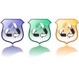 Conjunto de alta calidad que recicla vectores de los iconos Ilustración del Vector