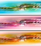 Conjunto de alta tecnología colorido del fondo Fotografía de archivo libre de regalías
