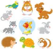 Conjunto de animales domésticos libre illustration