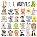 Conjunto de animales lindos stock de ilustración