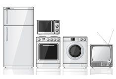 Conjunto de aparatos electrodomésticos Imagen de archivo libre de regalías