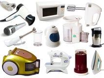 Conjunto de aparatos electrodomésticos Imagen de archivo