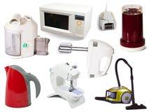 Conjunto de aparatos electrodomésticos Fotografía de archivo