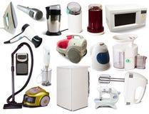 Conjunto de aparatos electrodomésticos Fotografía de archivo libre de regalías