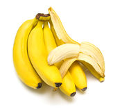 Conjunto de bananas maduras Imagem de Stock Royalty Free