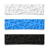 Conjunto de banderas abstractas ilustración del vector