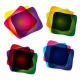 Conjunto de banderas abstractas multicoloras Fotos de archivo