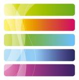 Conjunto de banderas coloridas del vector Imagen de archivo libre de regalías