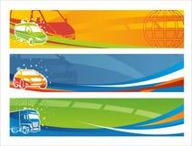 Conjunto de banderas contemporáneas del transporte Foto de archivo