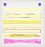 Conjunto de banderas creativas stock de ilustración