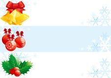Conjunto de banderas de la Navidad Foto de archivo libre de regalías